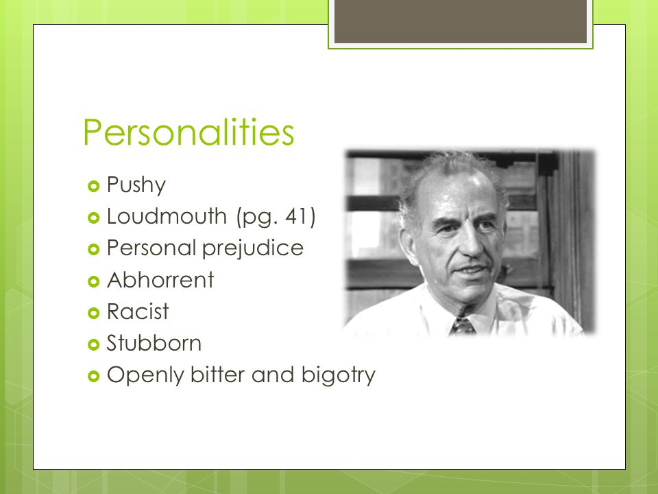 Personalities  Pushy  Loudmouth (pg.