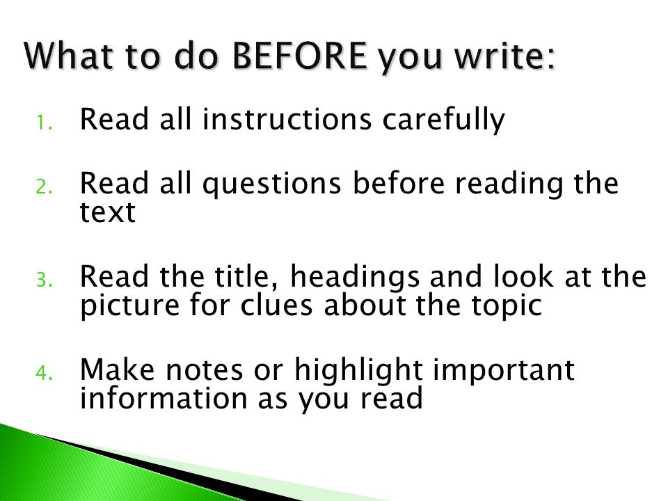  Analyse the picture and Headline to determine the topic of the article  Identify the 5Ws and H (who, what, where, when, why, and how) of your article  Create an interesting Summary Lead that includes the 5Ws and H of your article