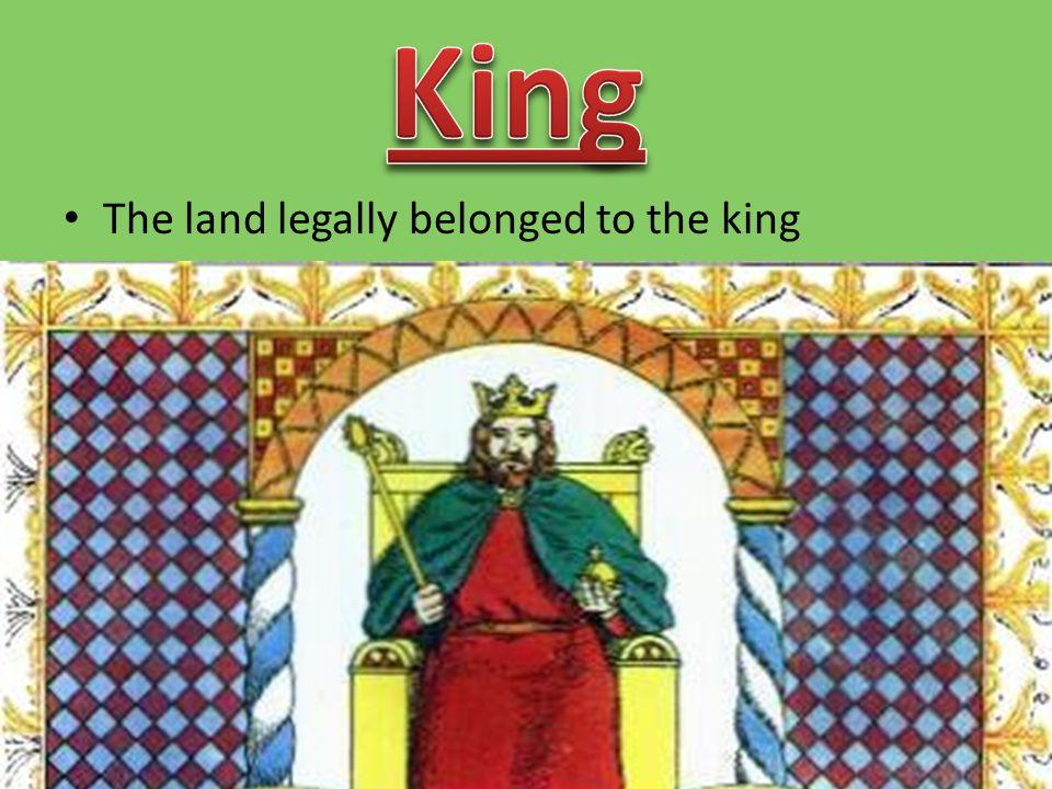 King Nobles & Church Officials Knights Peasants Serfs