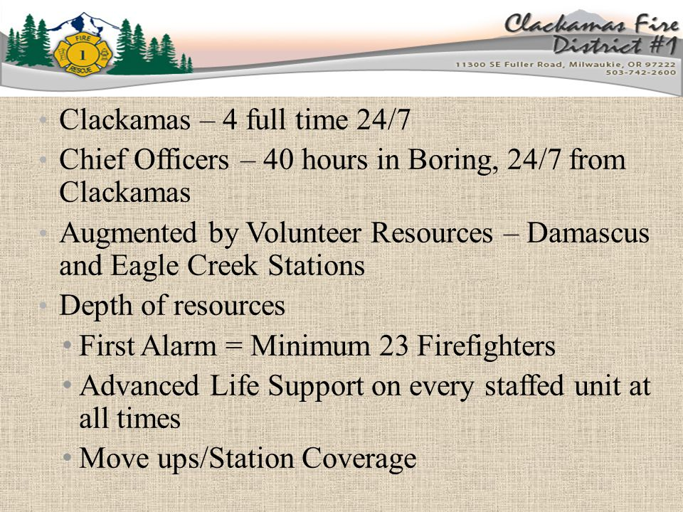 Current Activities Cascadia Rising – FEMA Region X full-scale exercise in 2016 Schools – Crisis Planning and Response Oregon City School District North Clackamas School District Clackamas Education Service District Oregon Trail School District