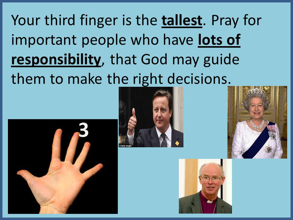 Your third finger is the tallest.