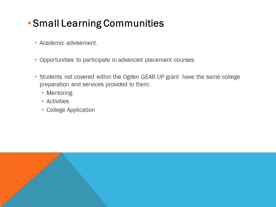Small Learning Communities Academic advisement.