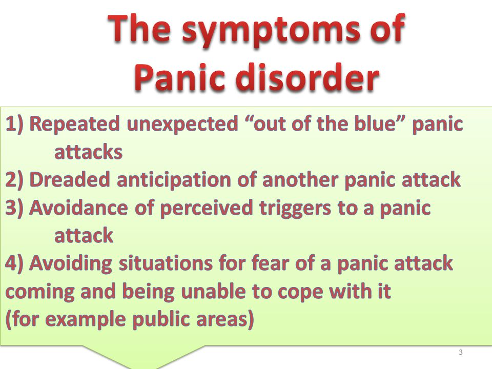 Education about anxiety disorders They are very common This does not show that there is something abnormal with you It is something that is easily curable if you work for the program Anxiety is not dangerous, it cannot cause any temporary or permanent damage to yourself
