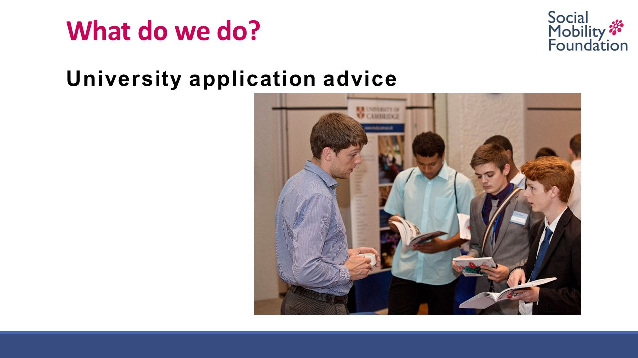 What do we do University application advice