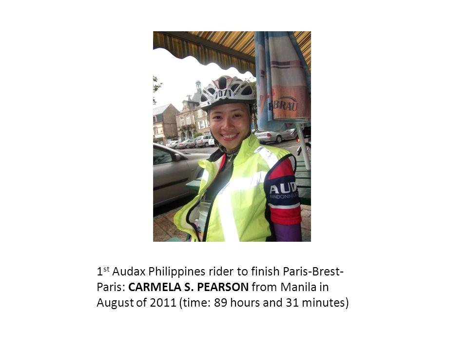 1 st Audax Philippines rider to finish Paris-Brest- Paris: CARMELA S.