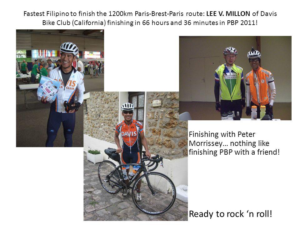 Fastest Filipino to finish the 1200km Paris-Brest-Paris route: LEE V.