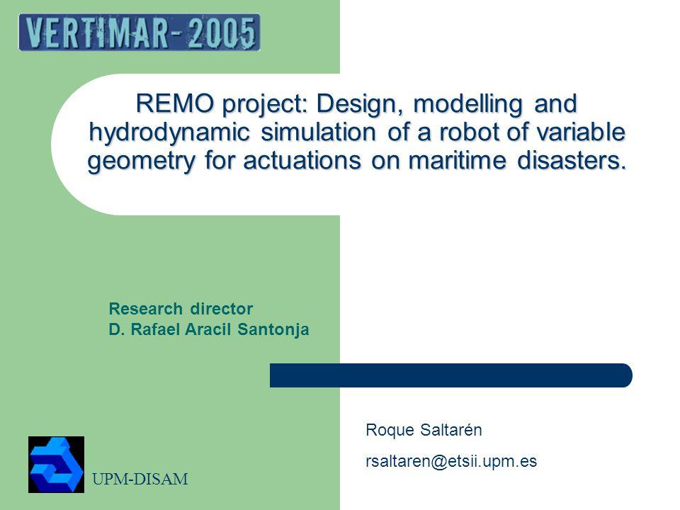 UPM-DISAM 12 Dimensionless hydrodynamics coefficients. Cx CyCz CmxCmyCmz