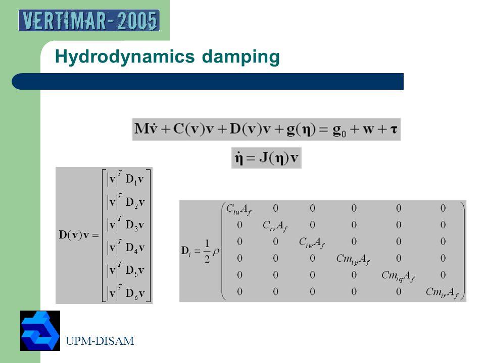 UPM-DISAM 10 Hydrodynamics damping