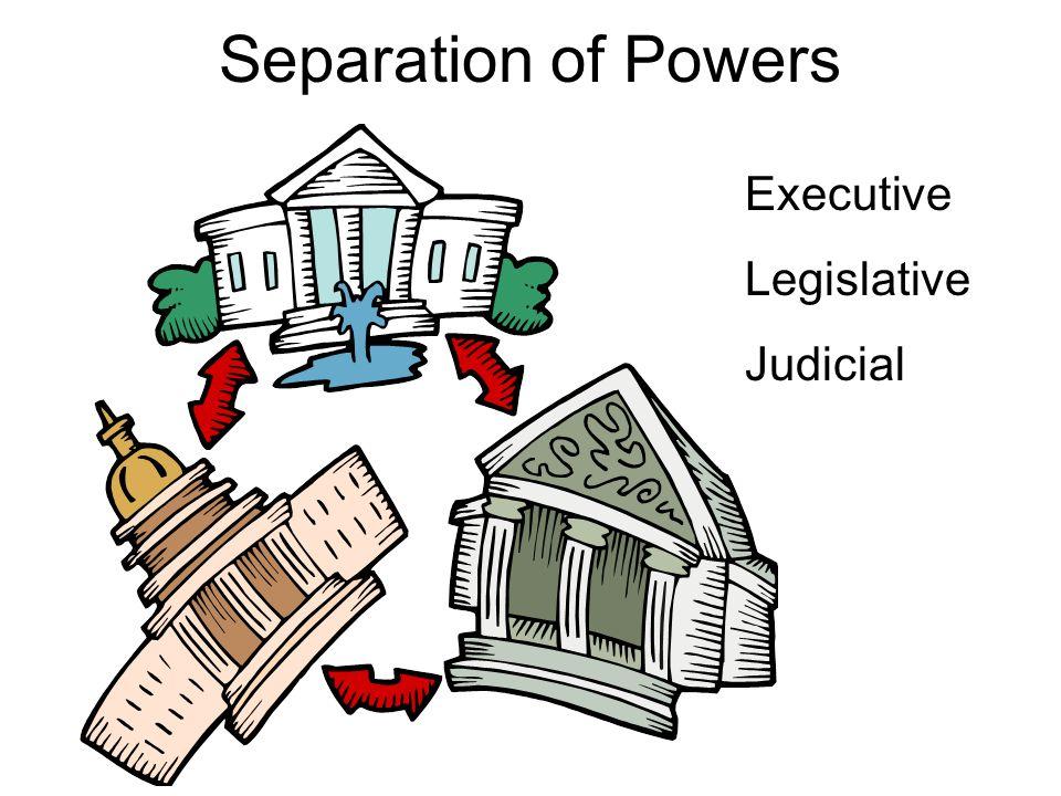 Separation of Powers Executive Legislative Judicial