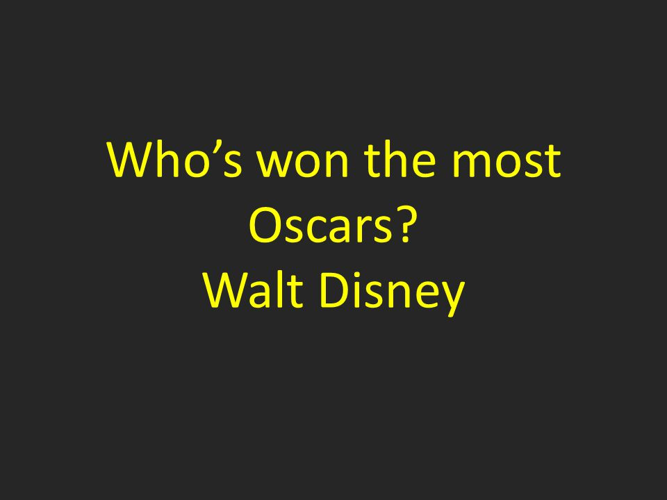 Who's won the most Oscars Walt Disney