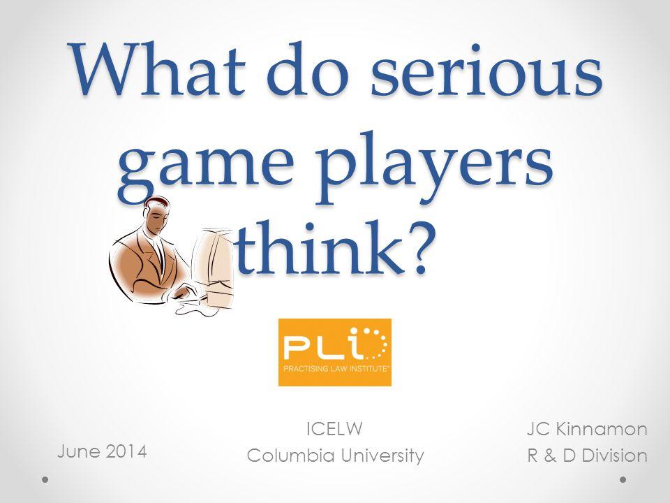 Thanks for coming! Questions? jckinnamon@pli.edu (212) 824-5813