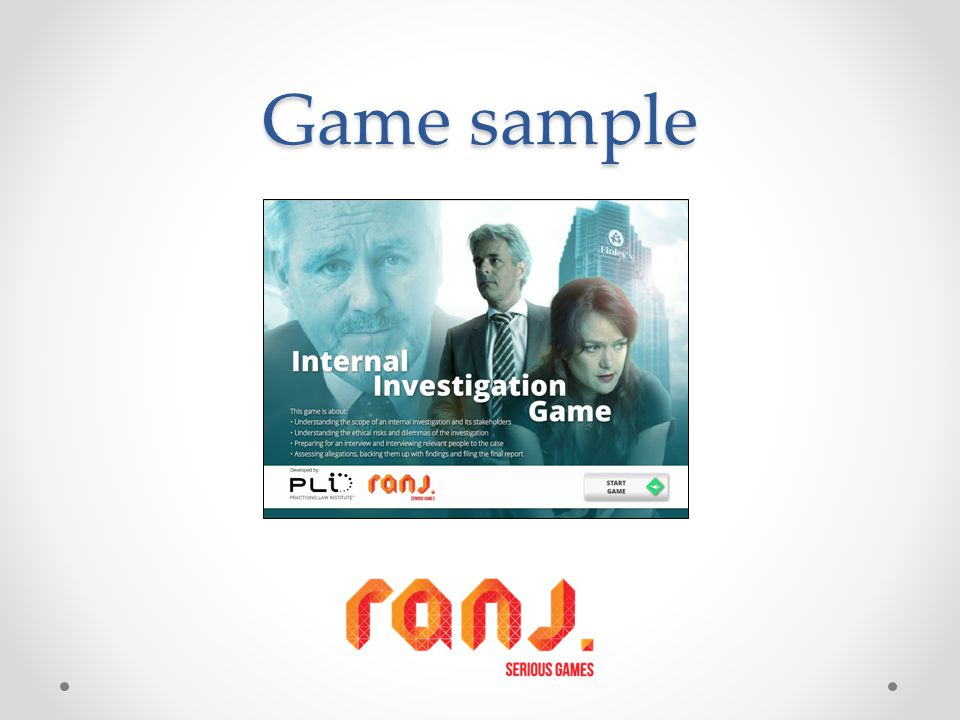 Game sample