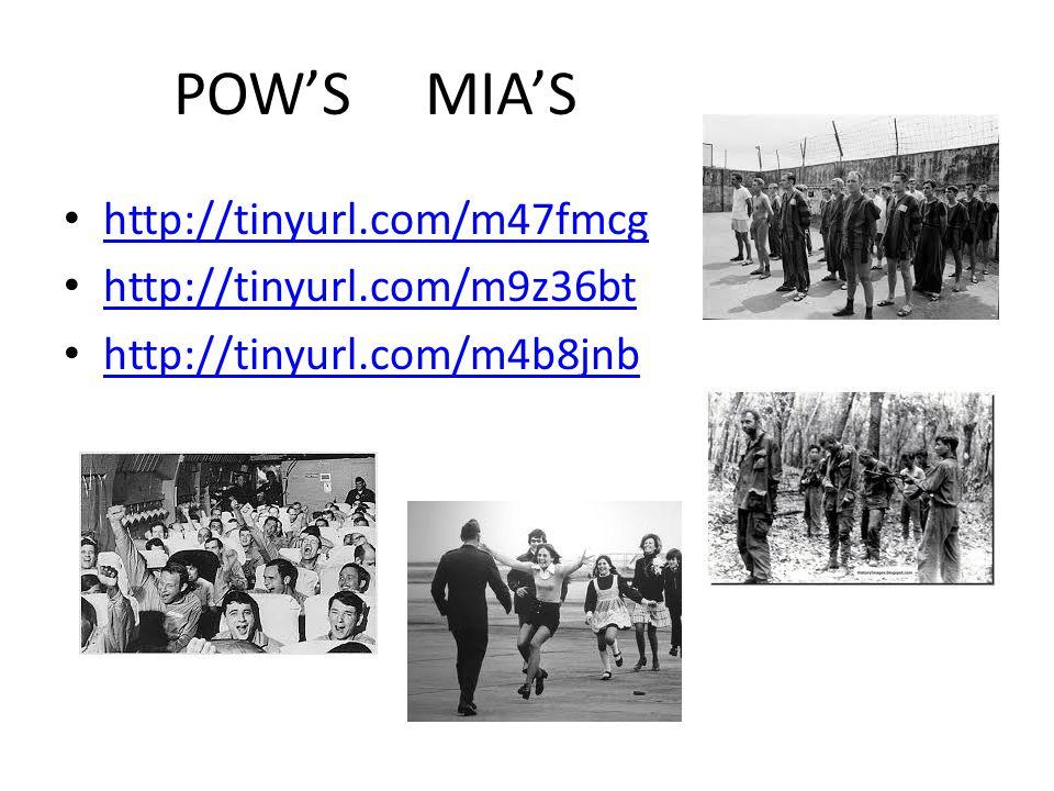 POW'S MIA'S http://tinyurl.com/m47fmcg http://tinyurl.com/m9z36bt http://tinyurl.com/m4b8jnb