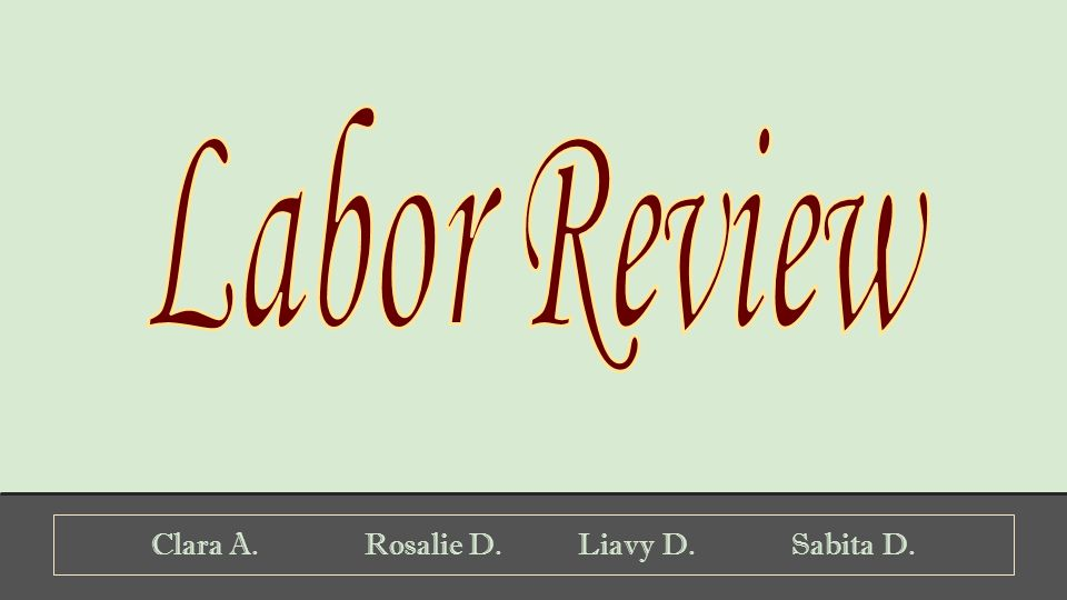 Clara A.Rosalie D.Liavy D.Sabita D.