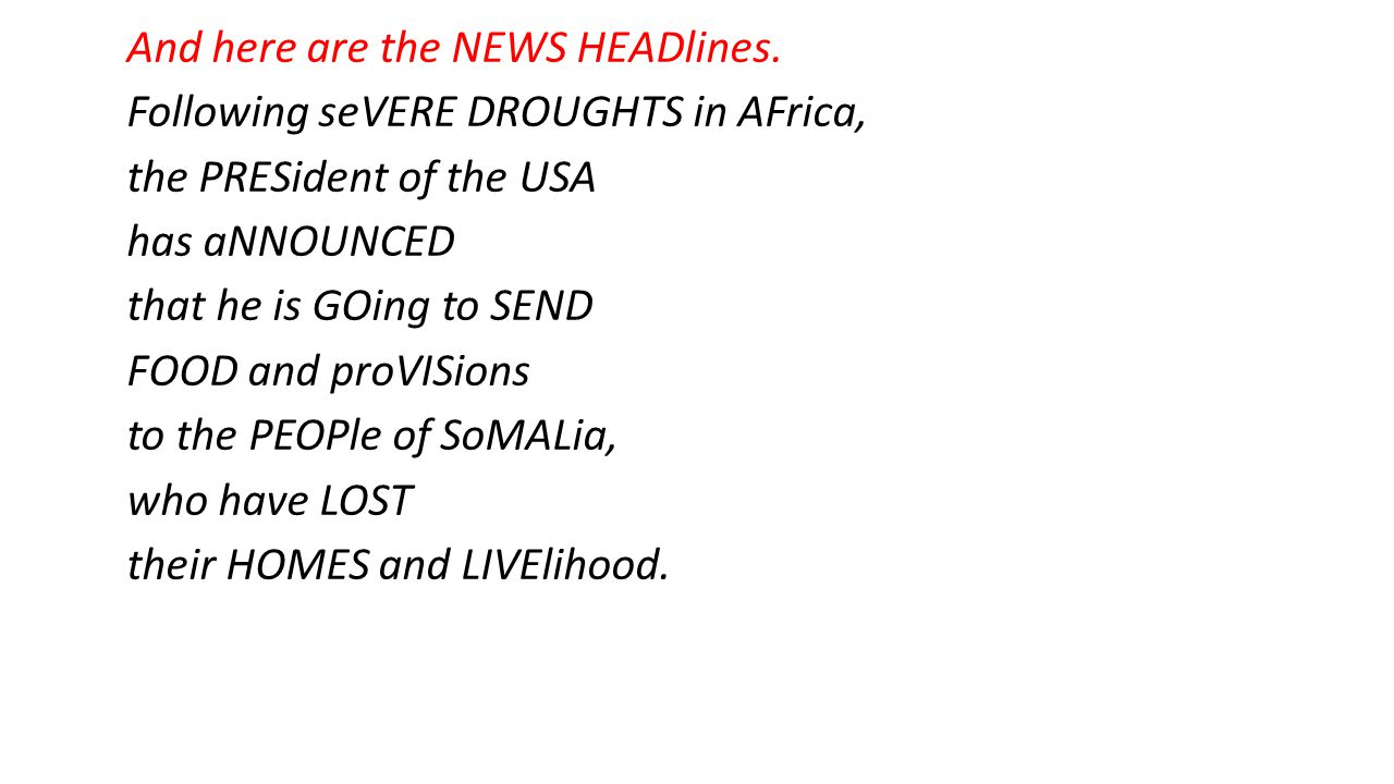 And here are the NEWS HEADlines.