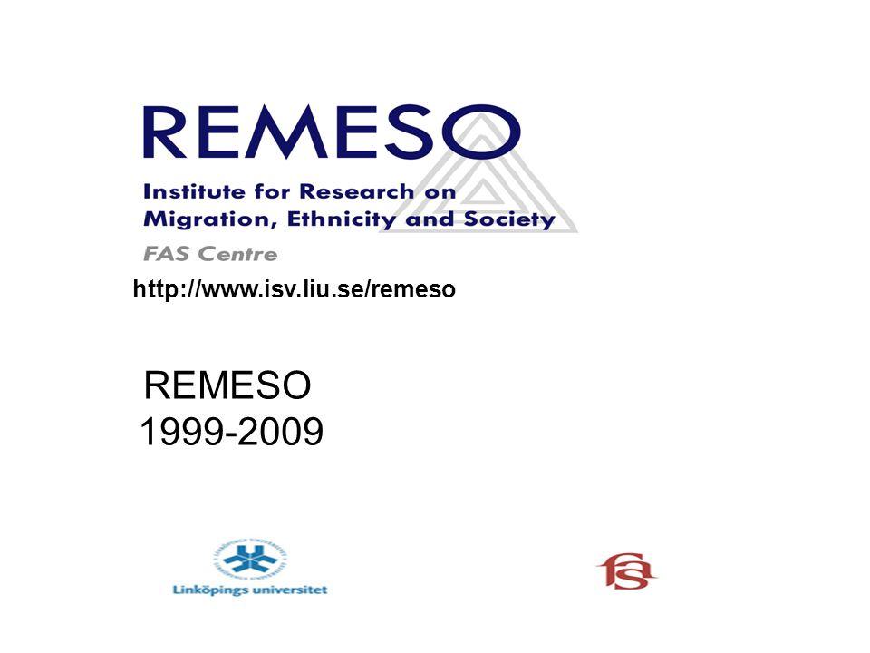 REMESO FORSKARSKOLA FORSKNINGS- PROGRAM Samverkan Kommunikation Information