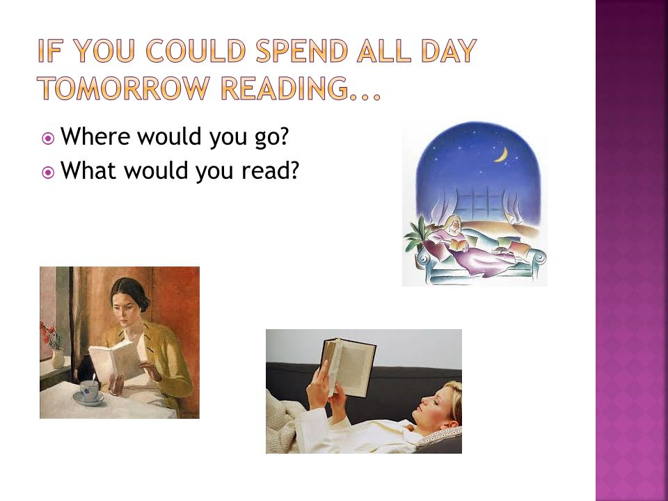  Where would you go  What would you read