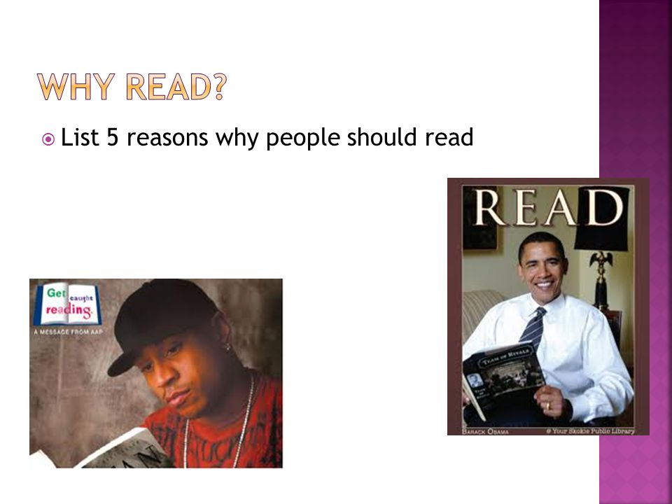  List 5 reasons why people should read