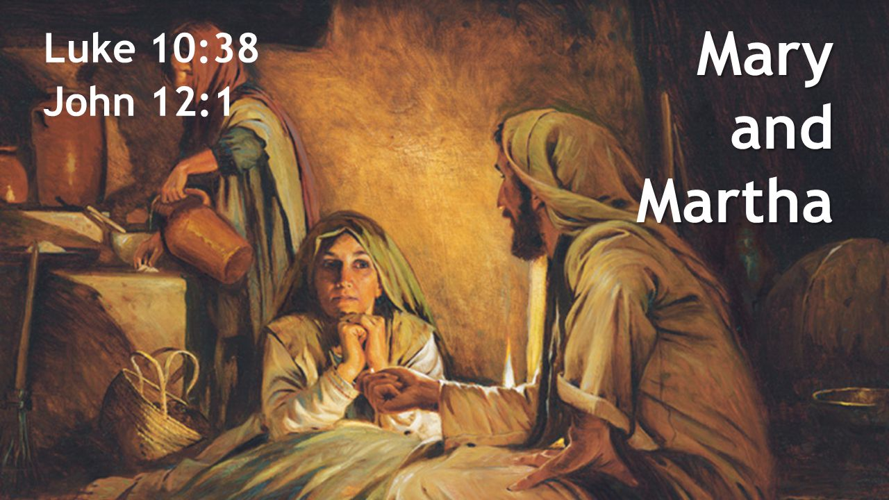 Mary and Martha Luke 10:38 John 12:1