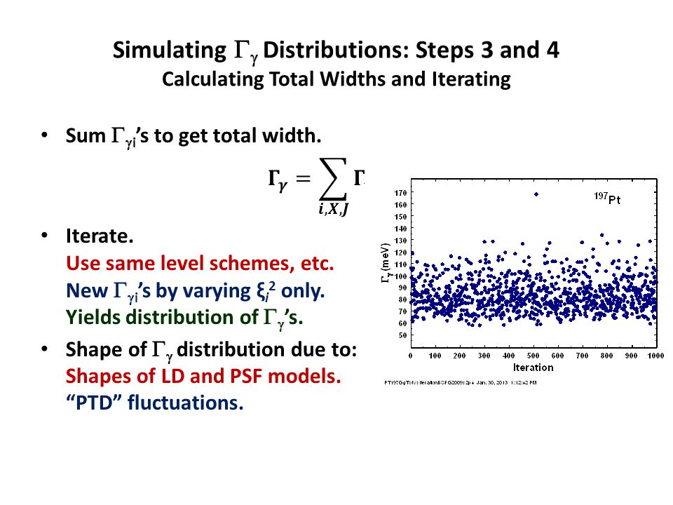 Simulating   Distributions: Steps 3 and 4 Calculating Total Widths and Iterating