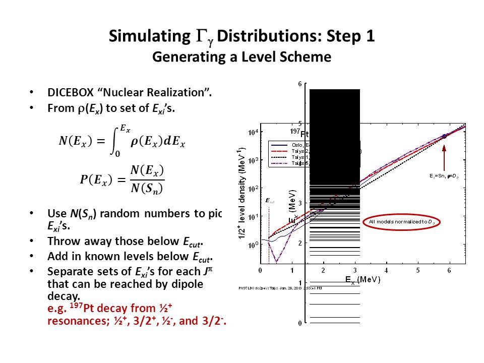 Simulating   Distributions: Step 2 Calculating the   i 's E  i = S n – E xi.