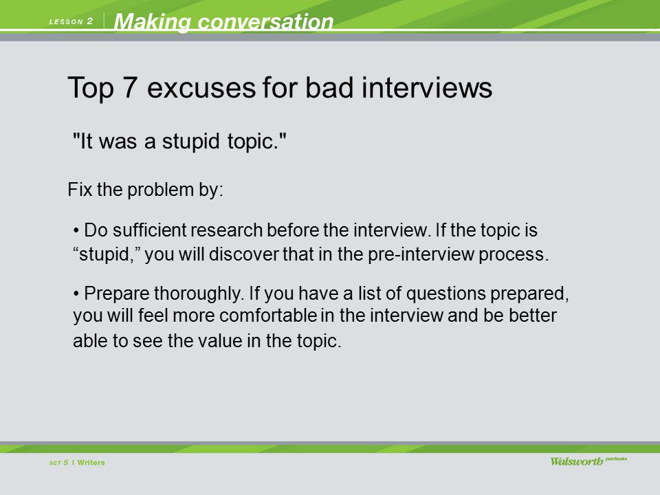 It was a stupid topic. Do sufficient research before the interview.