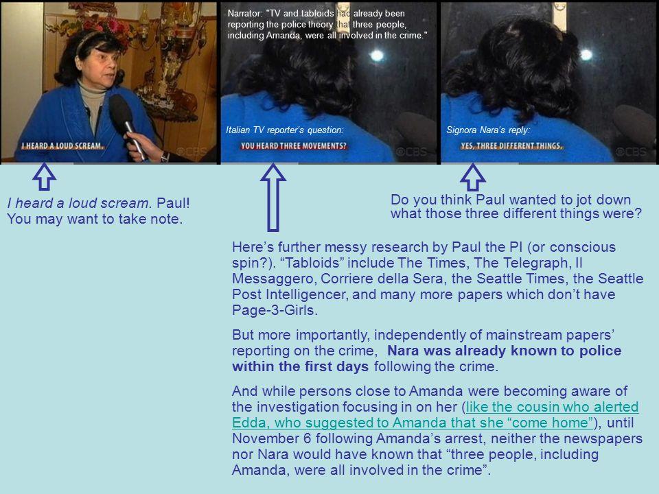 I heard a loud scream. Paul. You may want to take note.