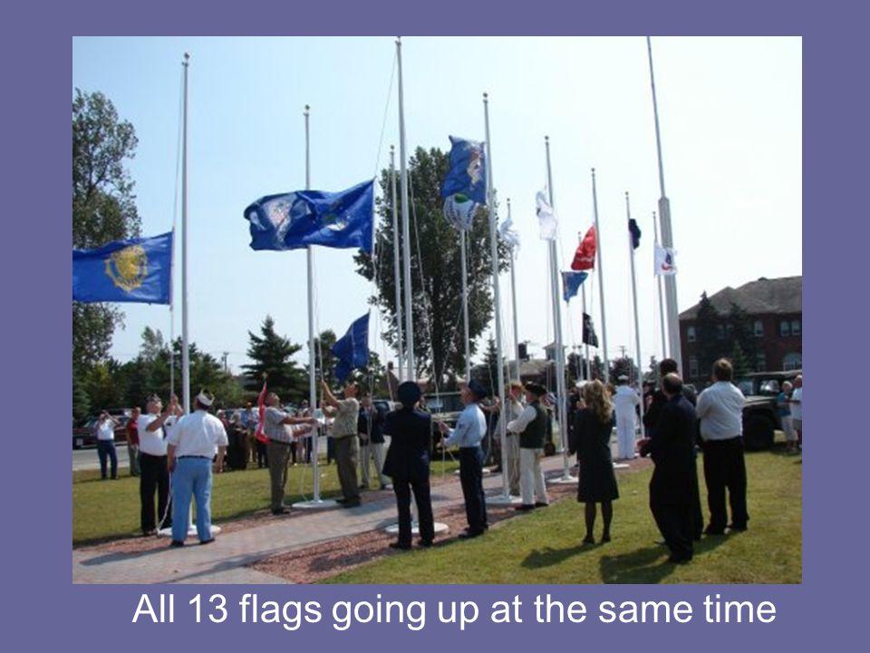 The Marines at the dedication