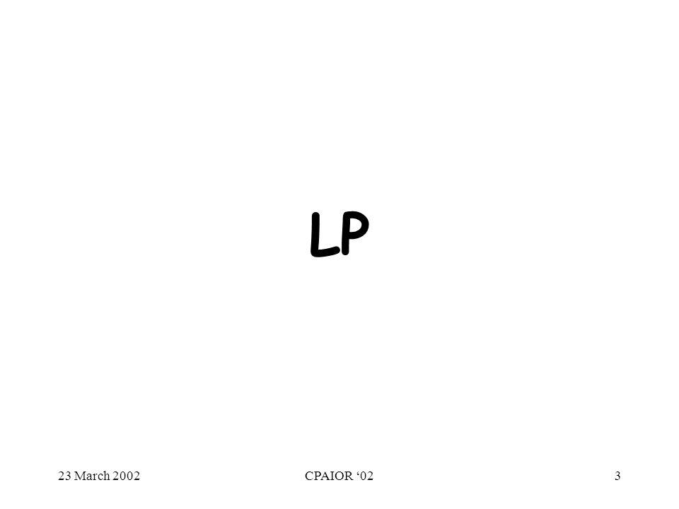 23 March 2002CPAIOR '023 LP