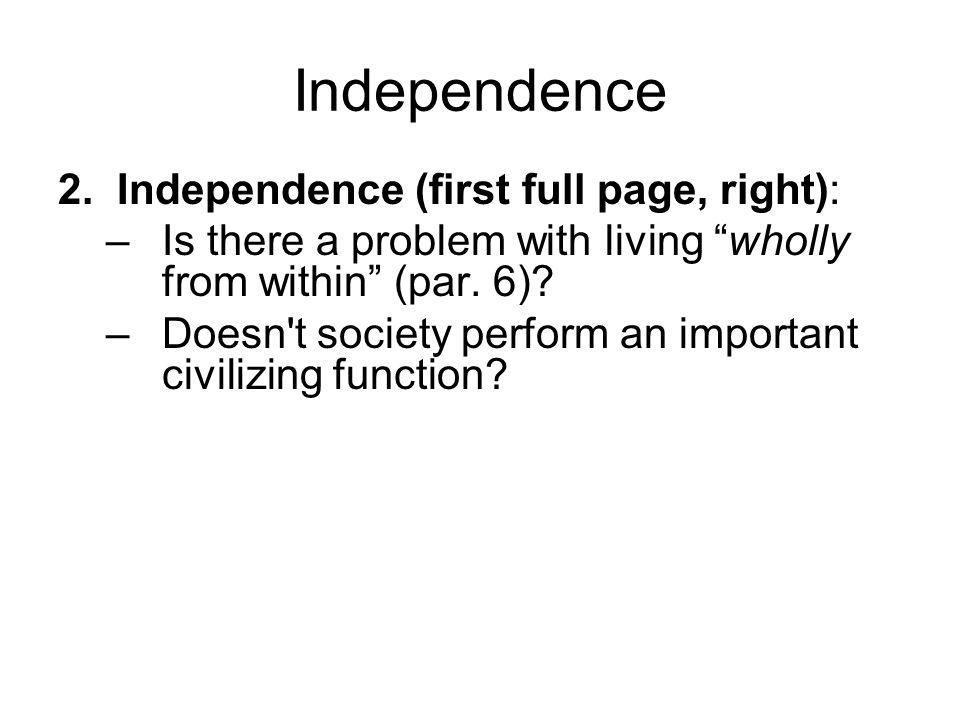 Independence 2.