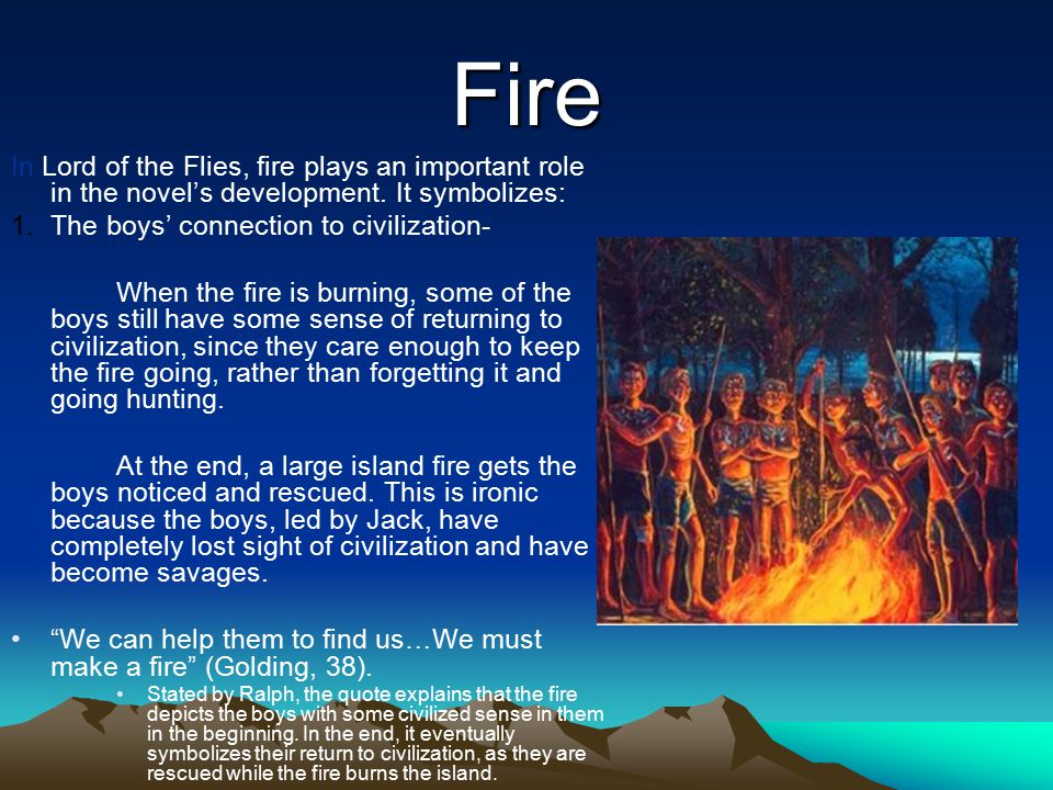 lord of the flies thesis statement savagery An thesis on civilization vs savagery in goldin s lord of the flies the ' lord of flies ' written by william golding talks about a group of boys whom their plane was.