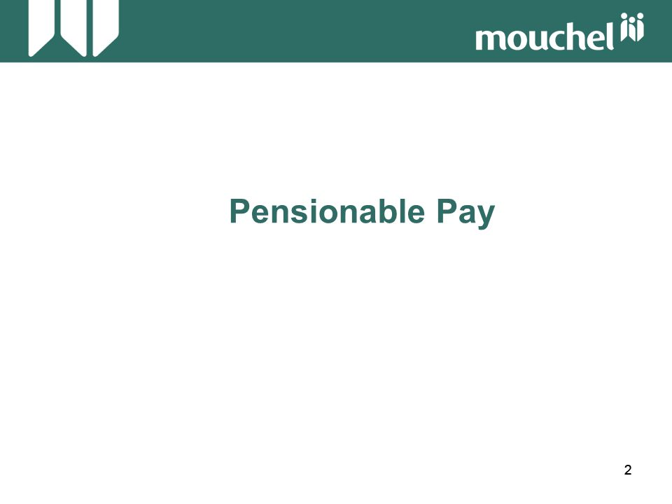 23 Pensionable Pay Workshop 2 Full Time Employee Leaving Date 15 January 2004 Salary Details16.01.2003 £13,884.00 plus £100 First Aid Allowance 01.04.2003 £14,391.00 plus £100 First Aid Allowance Calculate the annual pensionable pay: 16.01.03 - 31.03.03 75/365 x (13,884.00+100)= £ 2,873.42 01.04.03 - 15.01.04290/365 x (14,391.00+100)= £11,513.40 = £14,386.82 OR 16.01.03 - 31.03.03 75/365 x 13,884.00 = £ 2,852.88 01.04.03 - 15.01.04 290/365 x 14,391.00 = £11,433.94 = £14,286.82 + 100 = £14,386.82