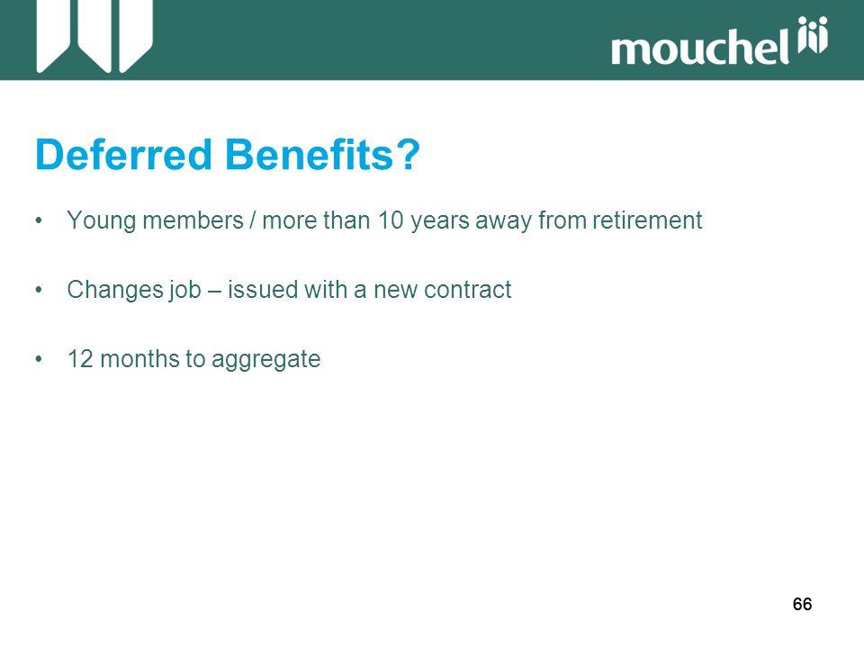 66 Deferred Benefits.