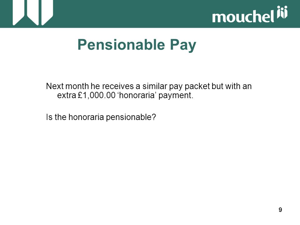 30 Pensionable Pay Is this fair.
