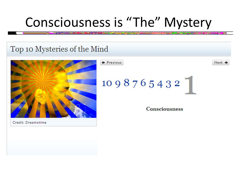 Consciousness is The Mystery