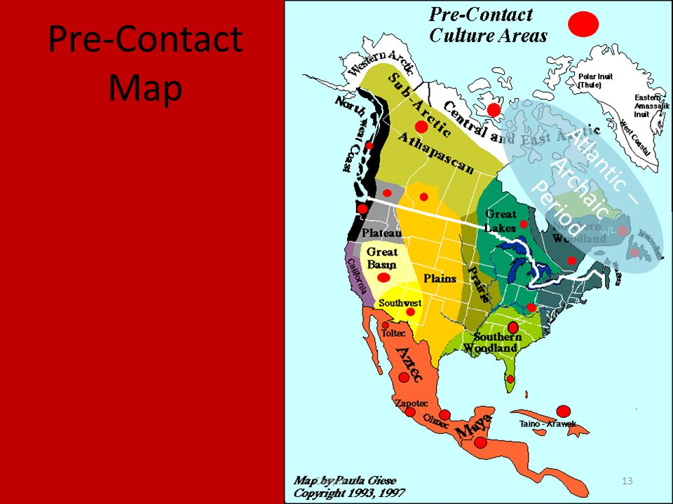 Pre-Contact Map Atlantic – Archaic Period Chapter 113