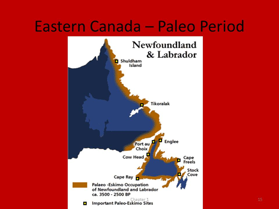 Eastern Canada – Paleo Period Chapter 115