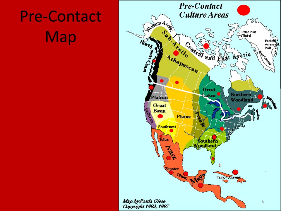 Pre-Contact Map Chapter 16