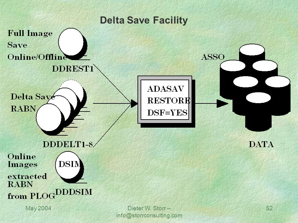 May 2004Dieter W. Storr -- info@storrconsulting.com 52 Delta Save Facility