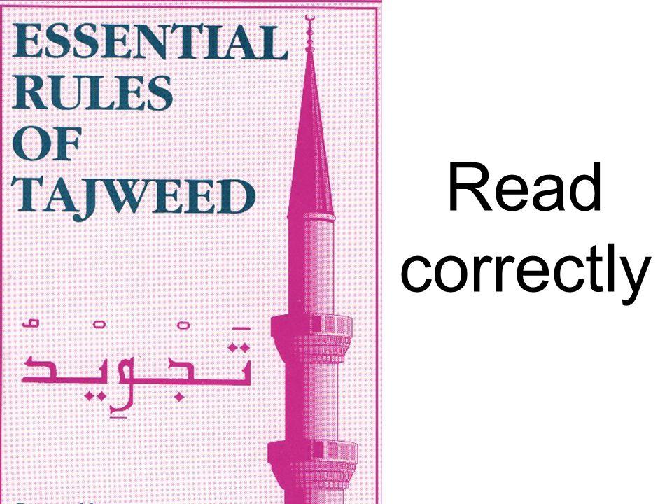 Read correctly
