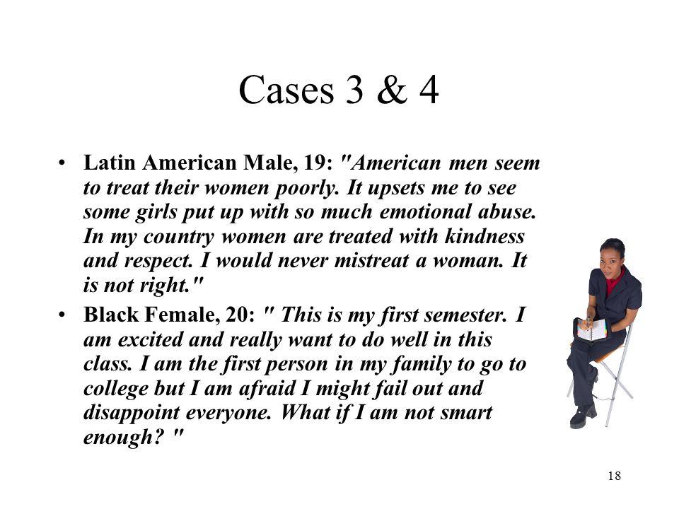 18 Cases 3 & 4 Latin American Male, 19: