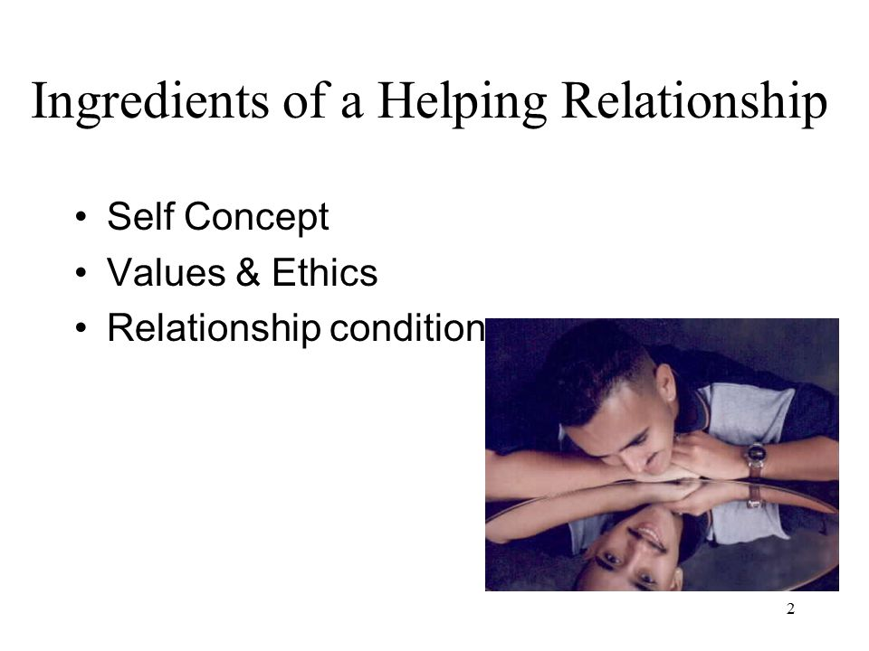 2 Self Concept Values & Ethics Relationship conditions