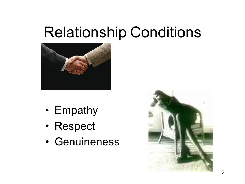 3 Relationship Conditions Empathy Respect Genuineness