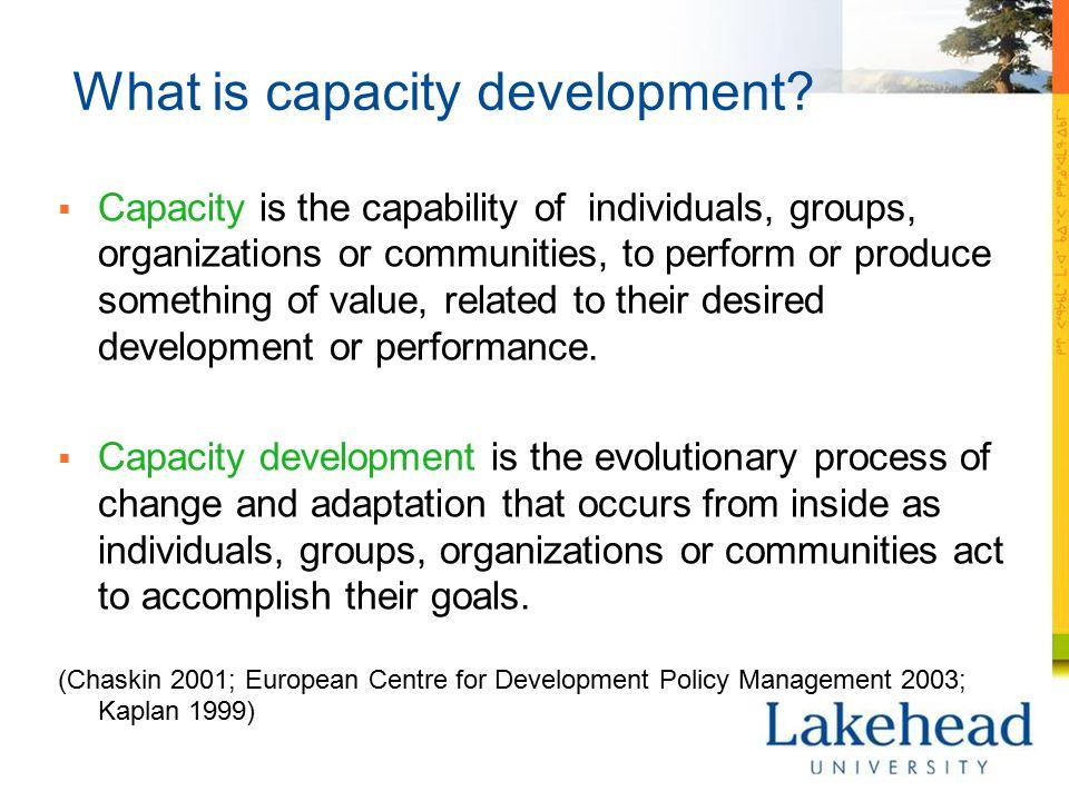 What is capacity development.