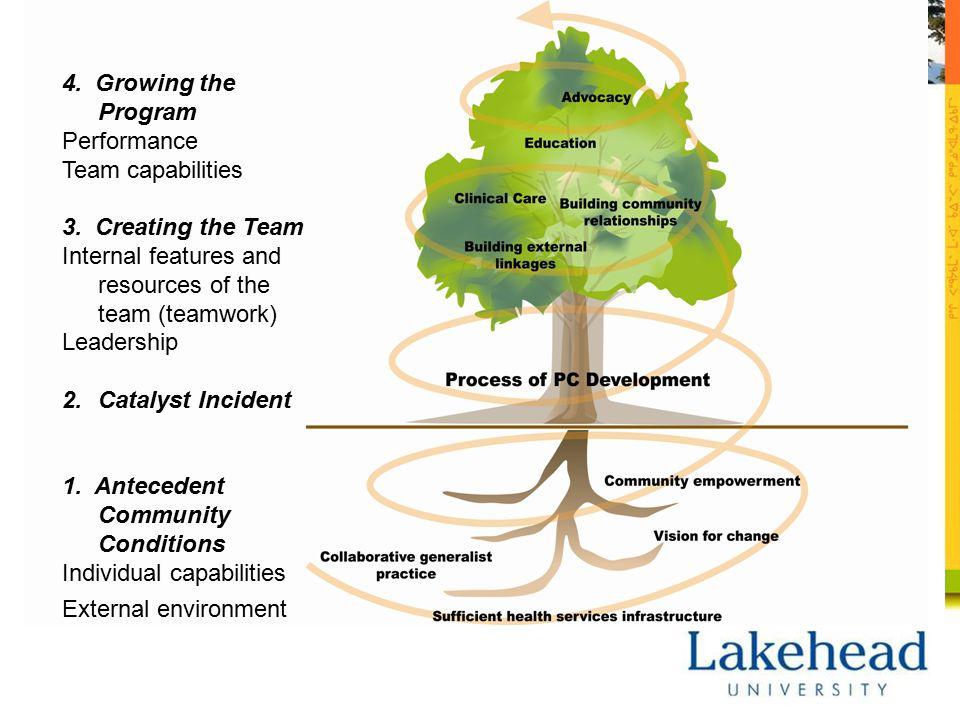 4. Growing the Program Performance Team capabilities 3.