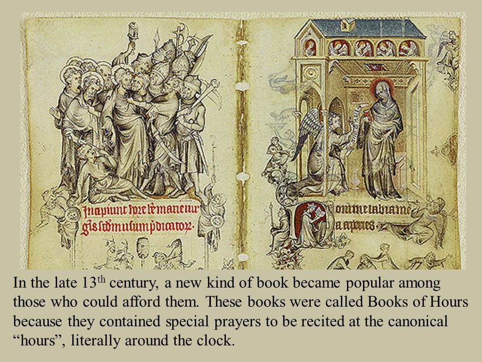 In the late 13 th century, a new kind of book became popular among those who could afford them.