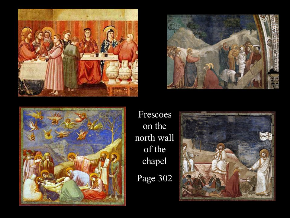 Frescoes on the north wall of the chapel Page 302