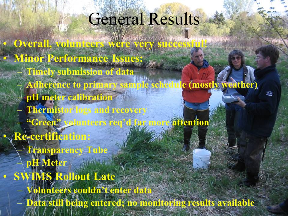 General Results Overall, volunteers were very successful.