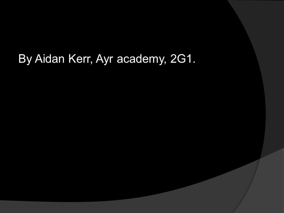 By Aidan Kerr, Ayr academy, 2G1.
