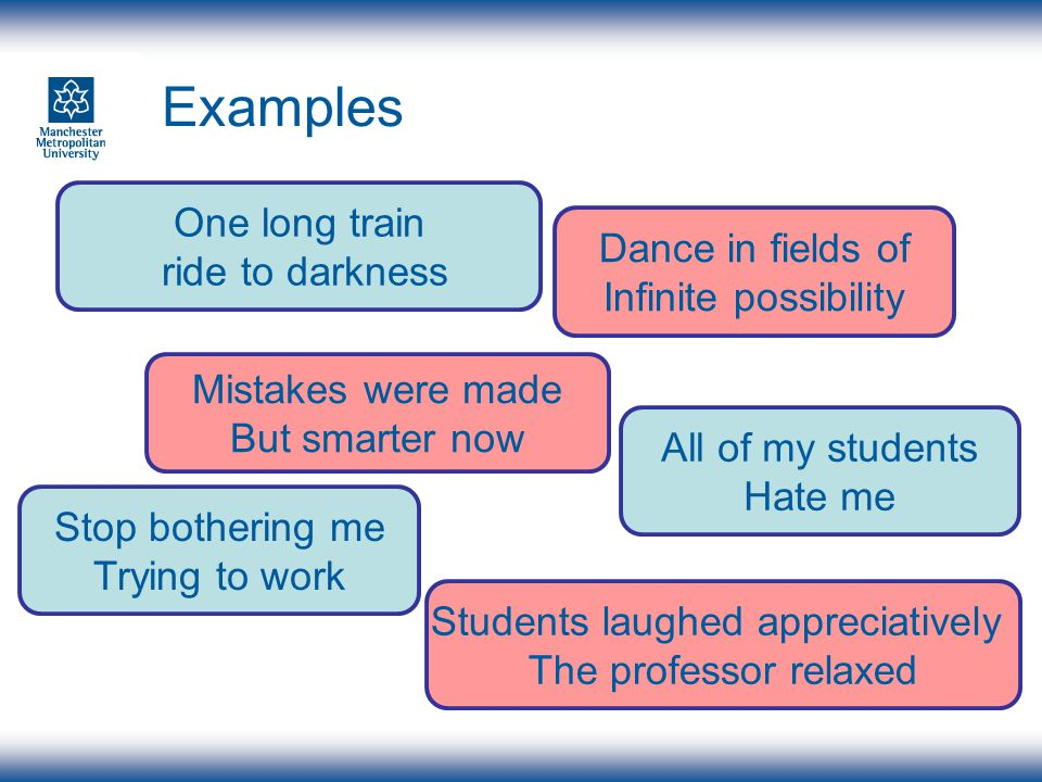 My Six words Encourage social, academic and personal integration.